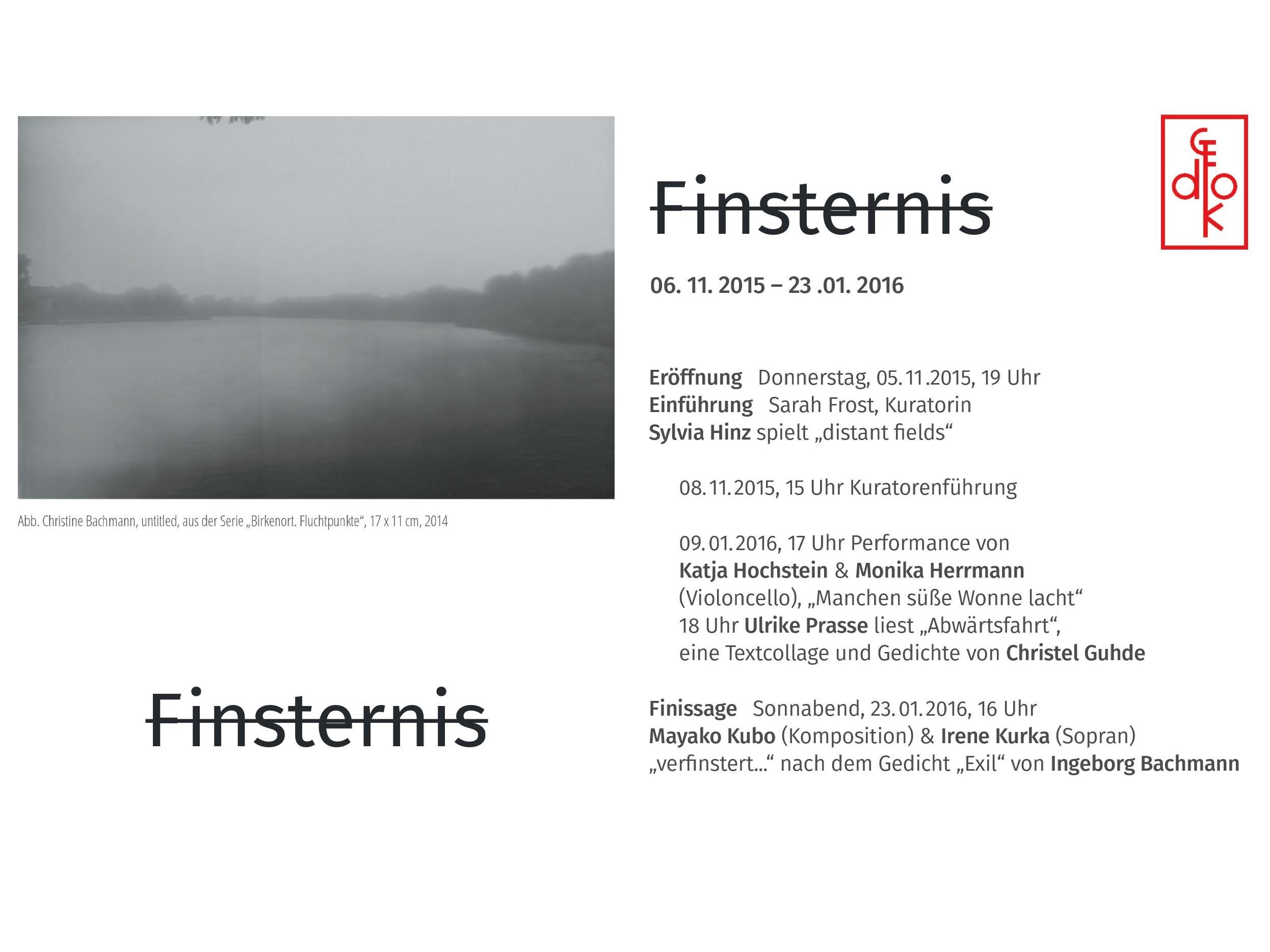 Finsternis – GEDOK Galerie Berlin