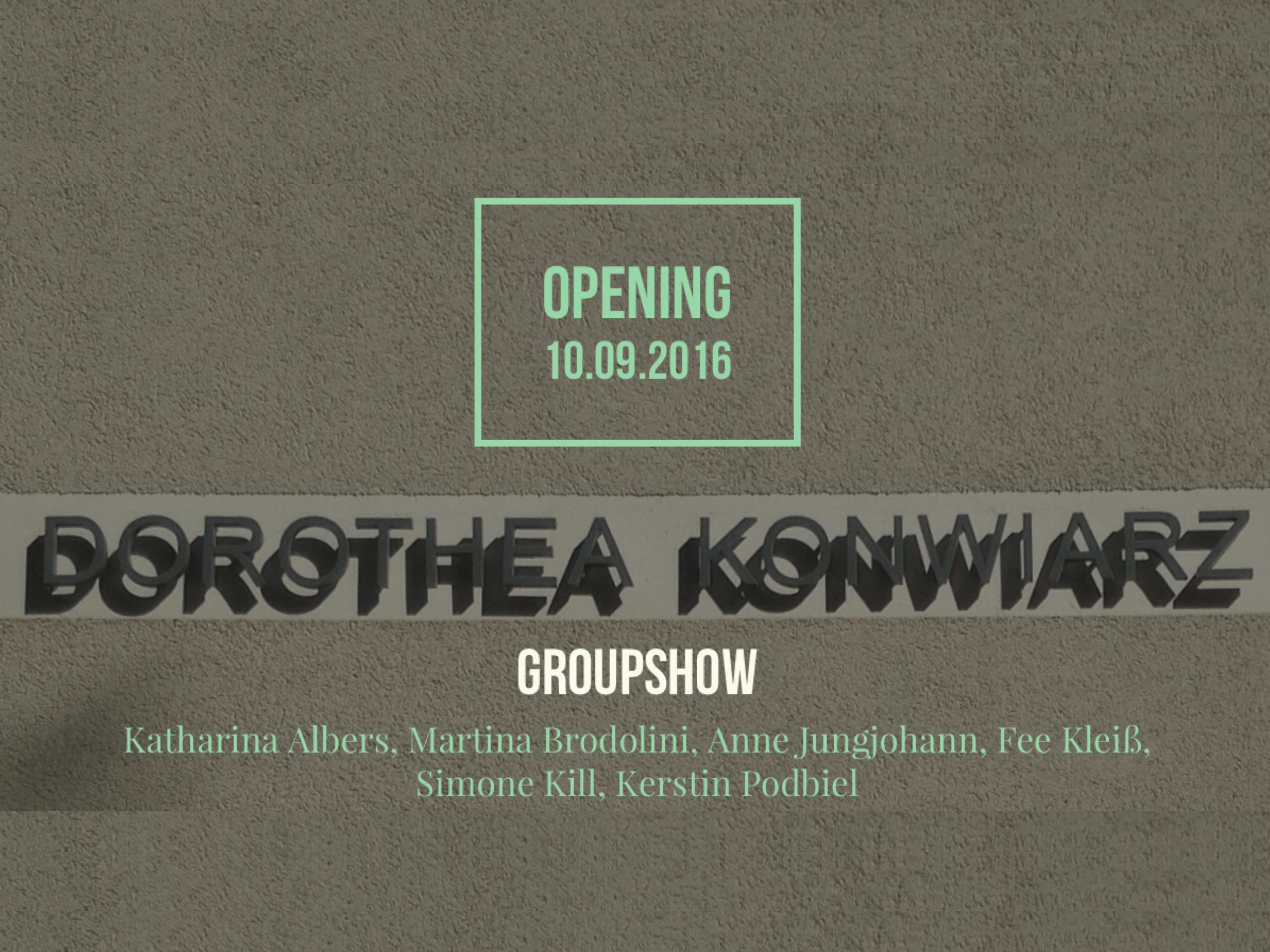 Stipendiatinnenausstellung Dorothea-Konwiarz-Stipendium 2016