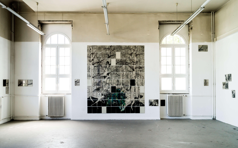 KatharinaWald XXXII, 2015, Tusche, Graphit, Linolfarbe, Ölfarbe, Fineliner auf Papier, 120 Stück je 30×21 cm Albers - Wald XXXII - Zeichnungen