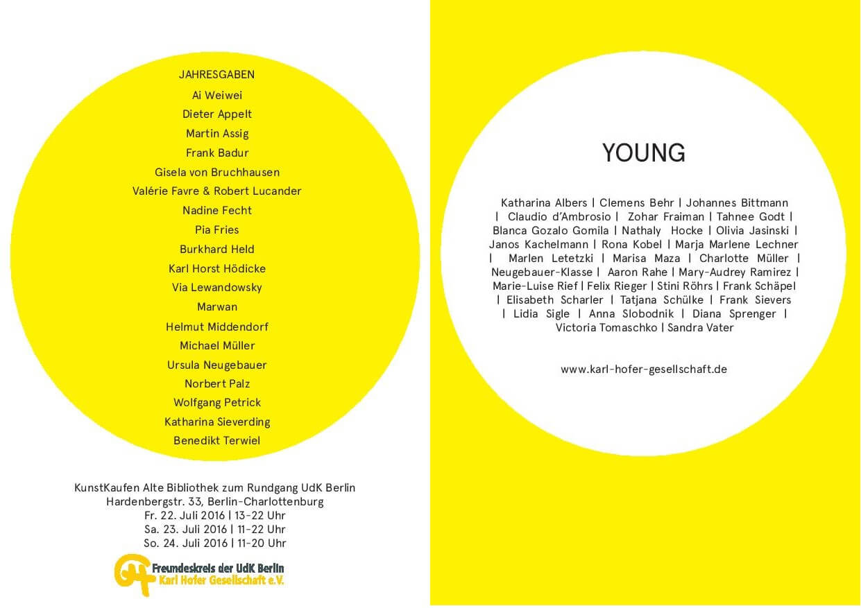 Karl-Hofer-Gesellschaft, KunstKaufen, Young, Katharina Albers, Lithographie