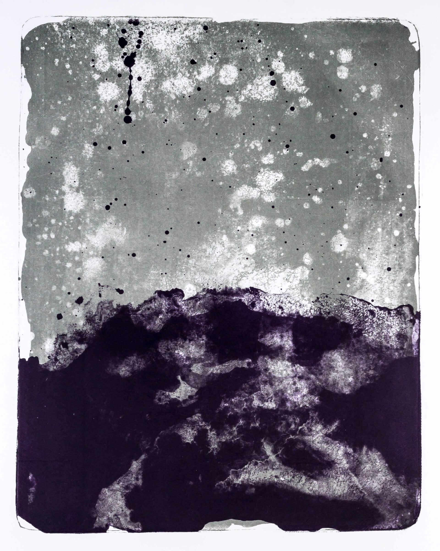 Katharina Albers, Wald X-XIV, 2015, Farblithographie, Unikat, 50×40 cm