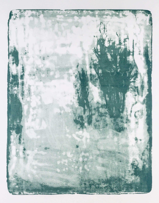 Katharina Albers, Wald X-XXI, 2015, Farblithographie, Unikat, 50×40 cm