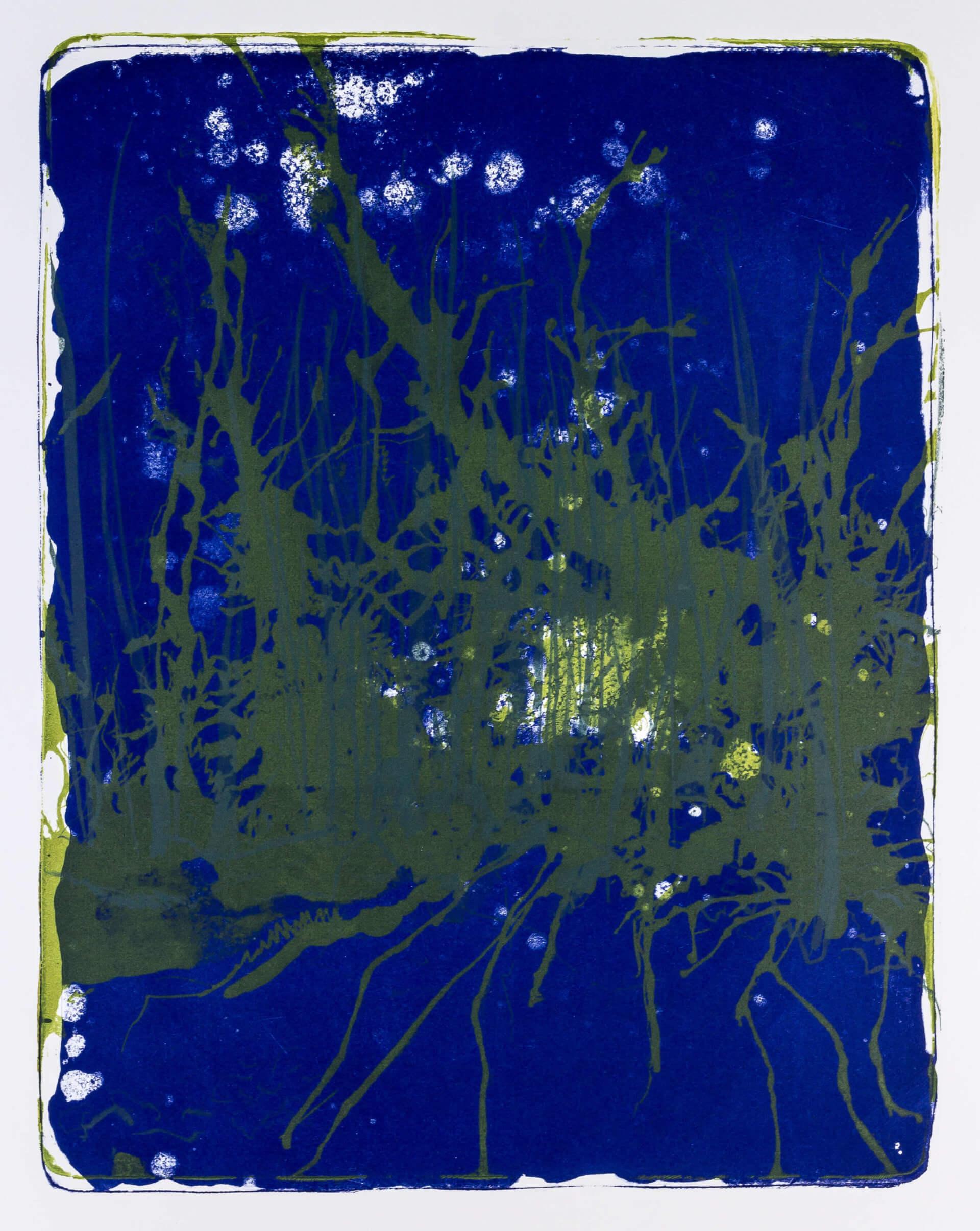 Katharina Albers, Wald X-XXIV, 2015, Farblithographie, Unikat, 50×40 cm