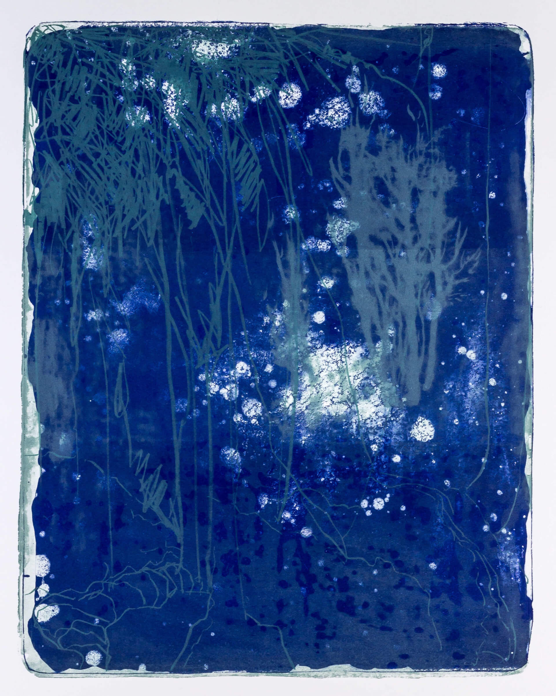Katharina Albers, Wald X-XXV, 2015, Farblithographie, Unikat, 50×40 cm