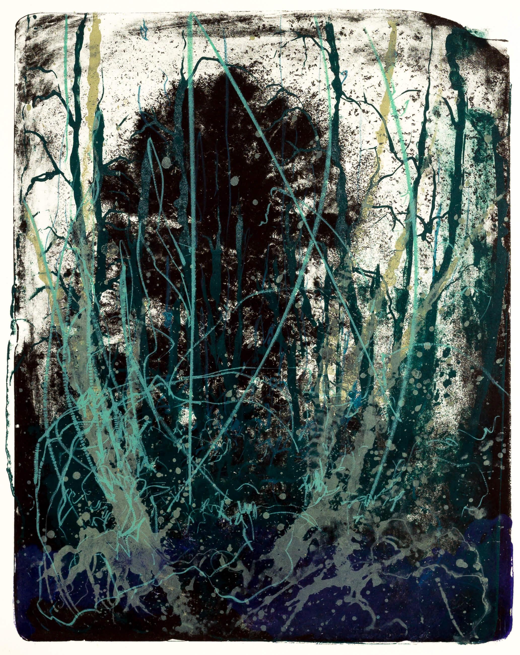 Katharina Albers, Wald X(N)-XIX, 2016, Farblithographie, 50x40 cm, Unikat