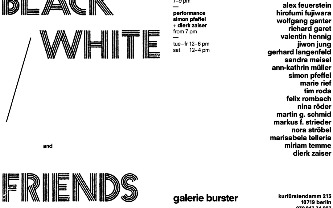 black/white and friends – Galerie Burster