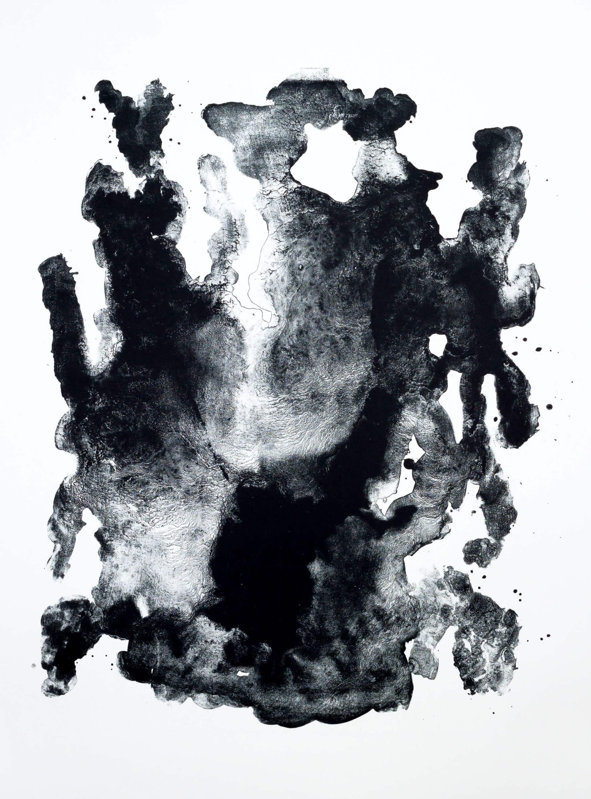 structure I, 2016, Farblithographie, Unikat, 64,5x53,5 cm (Motiv), ca. 77,5x57 cm (Papier)