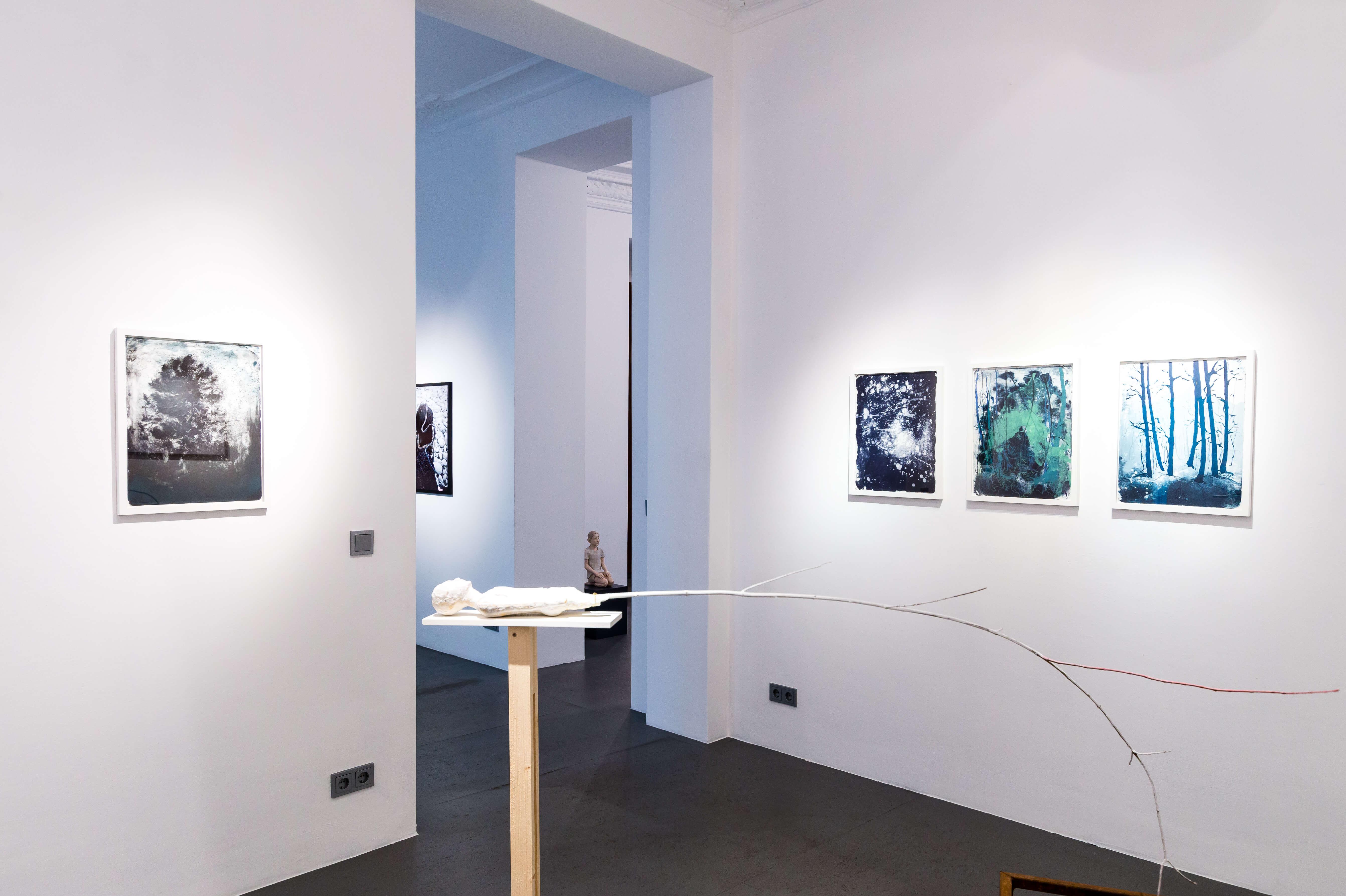 Foris - Galerie Burster, Katharina Albers, Lithographie und Wald