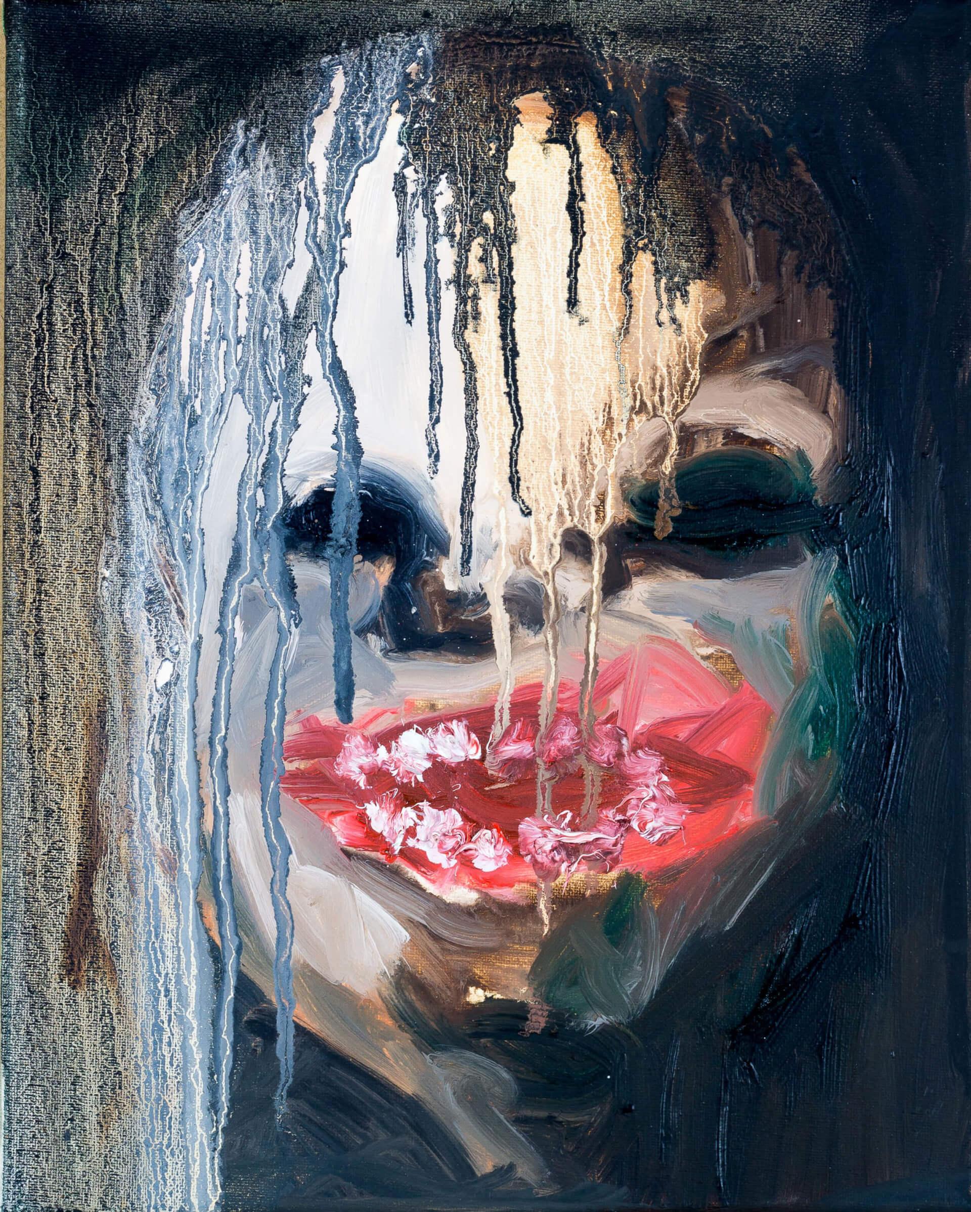 Katharina Albers, Transformation XIX, 2011, Öl auf Leinwand, 30×24 cm