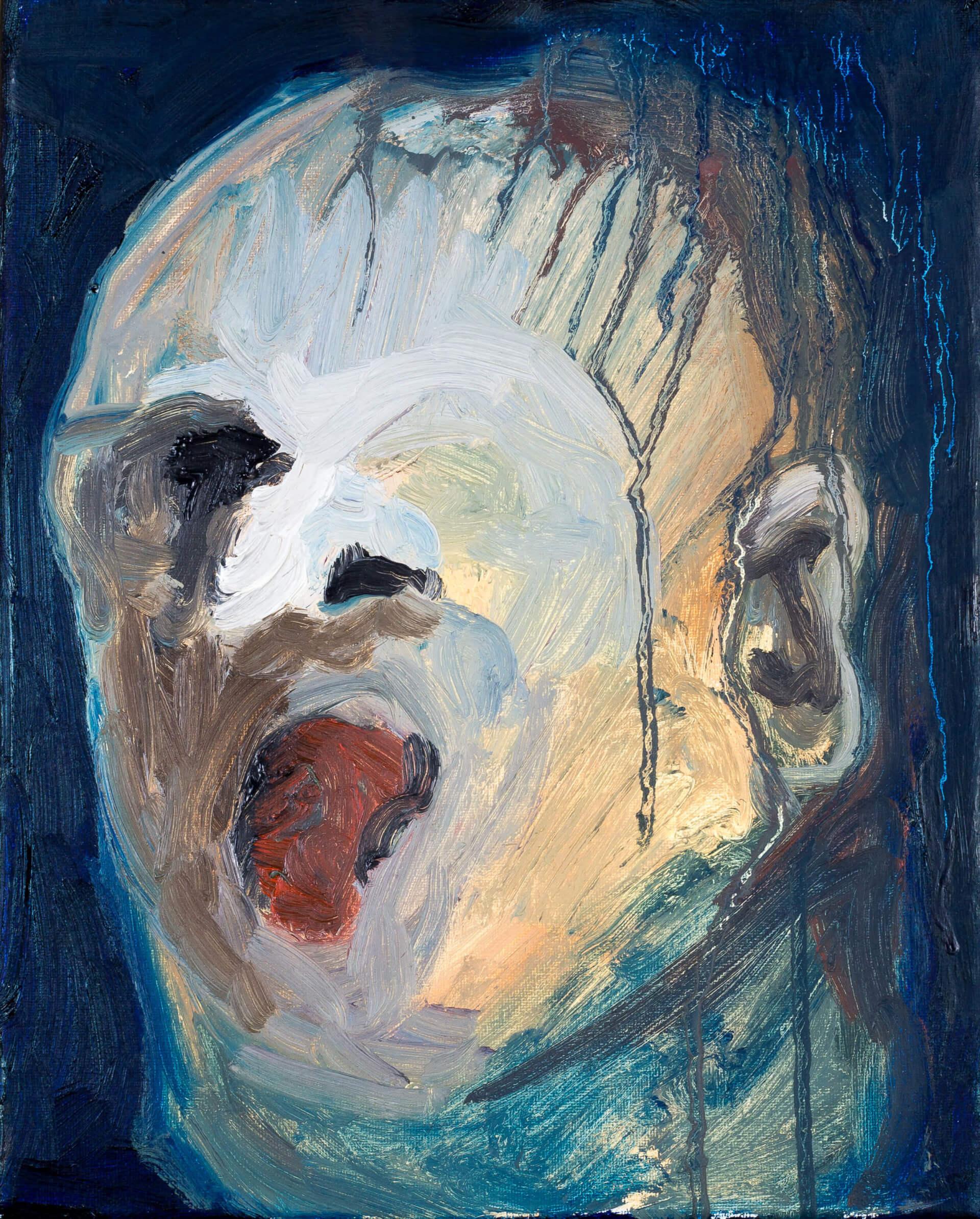 Katharina Albers, Transformation XX, 2011, Öl auf Leinwand, 30×24 cm