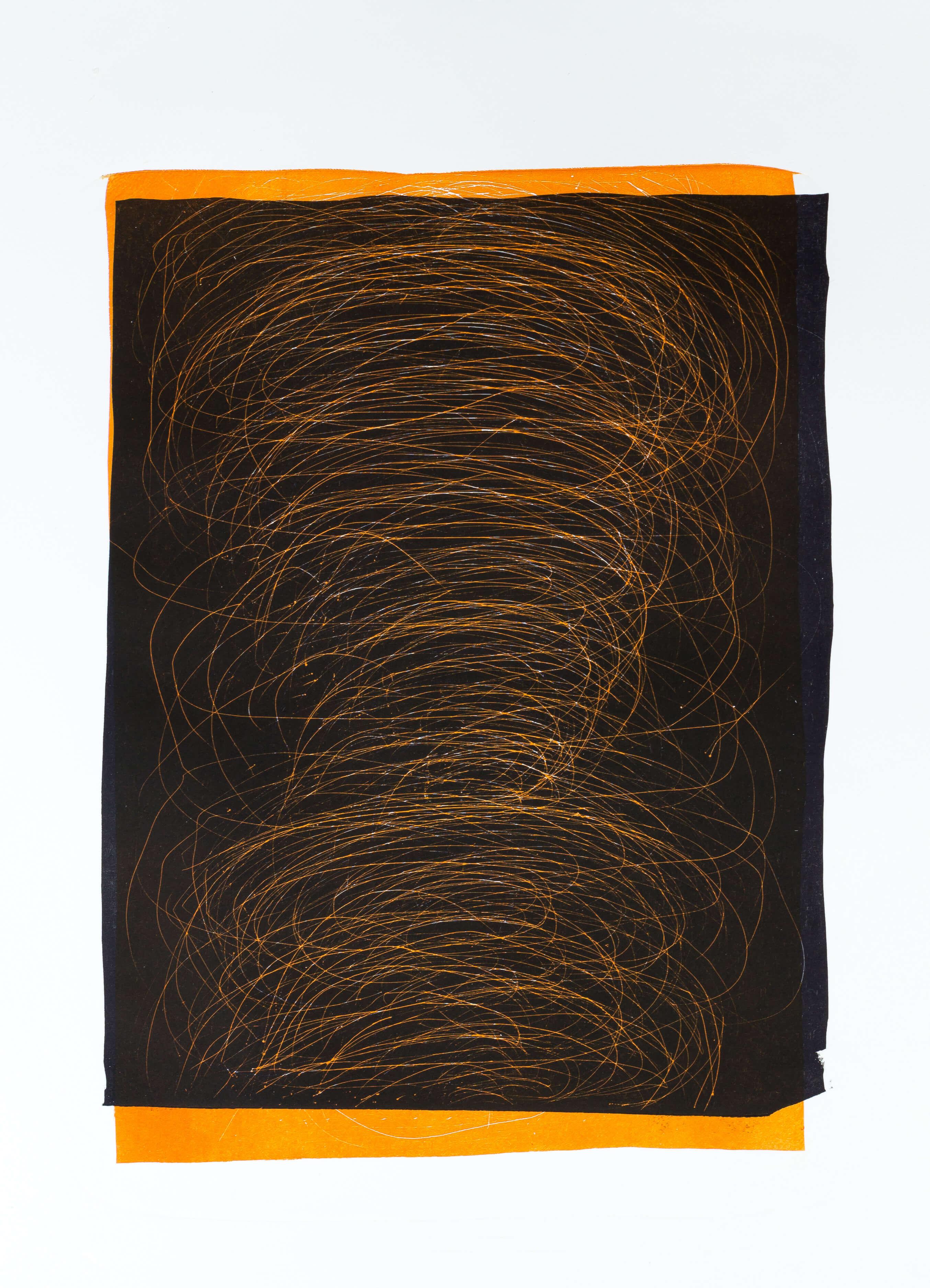 Katharina Albers, Transformation VI.I, 2011, Schablithographie, Unikat, 46,5x29,5cm
