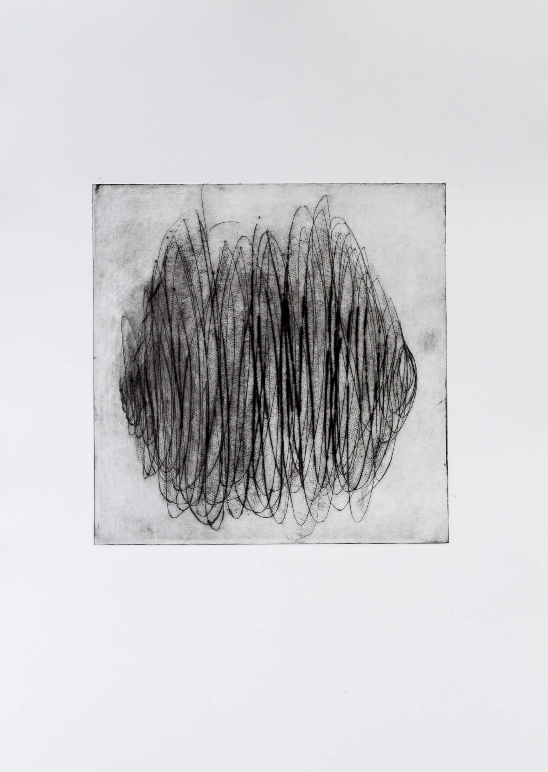Katharina Albers, Transformation XV, 2011, Radierung, Unikat, 24x23,5cm