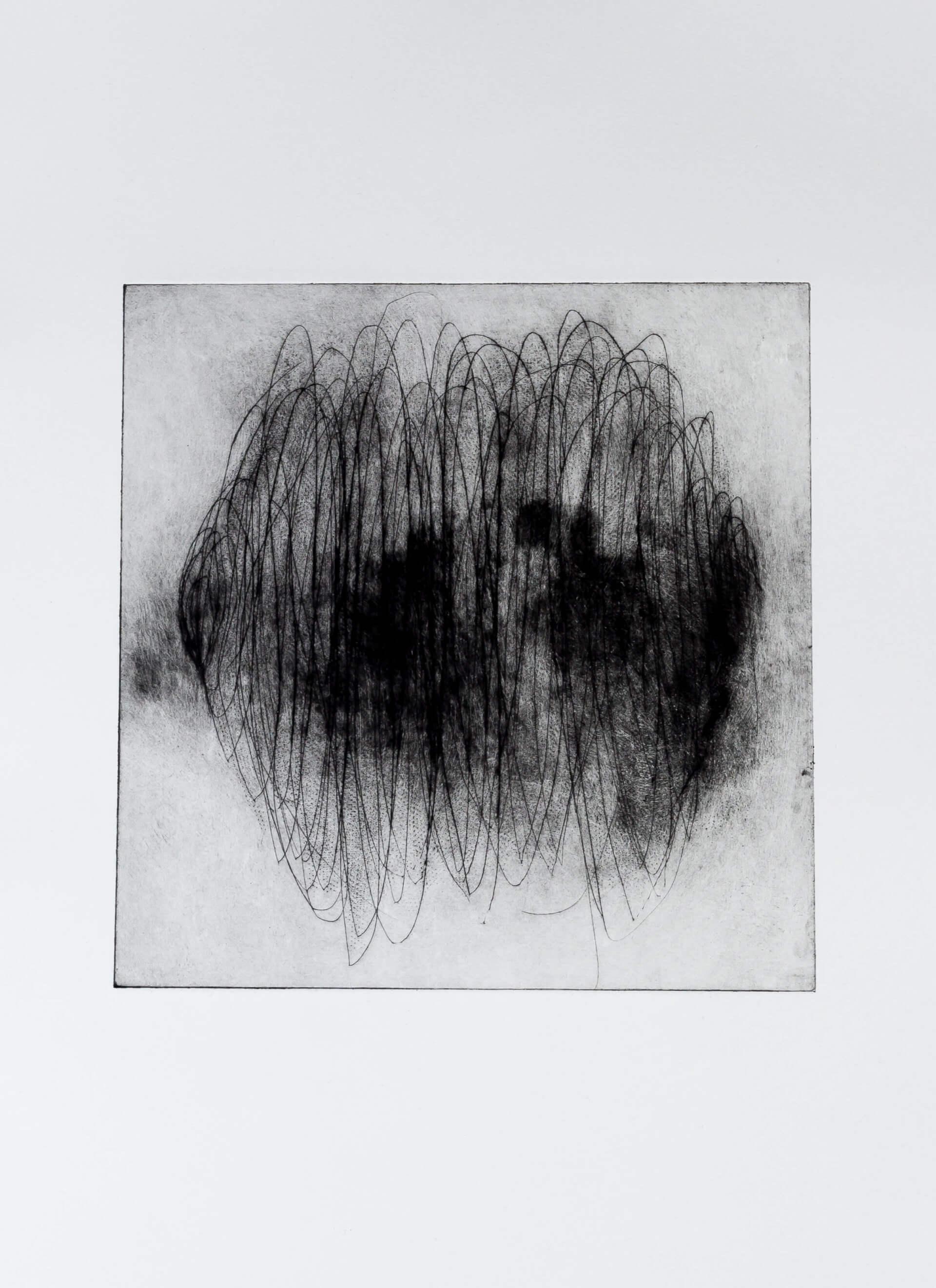 Katharina Albers, Transformation XV.I, 2011, Radierung, Unikat, 24x23,5cm