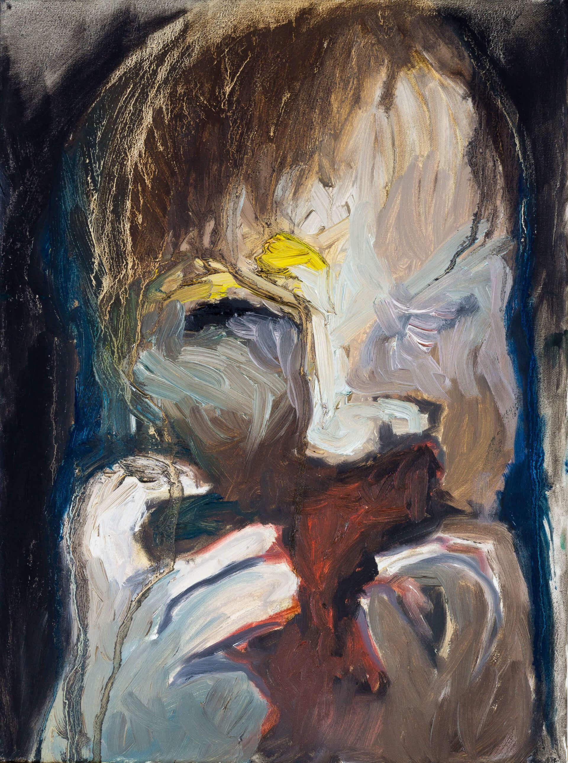 Katharina Albers, Transformation XXII, 2011, Öl auf Leinwand, 40×30 cm