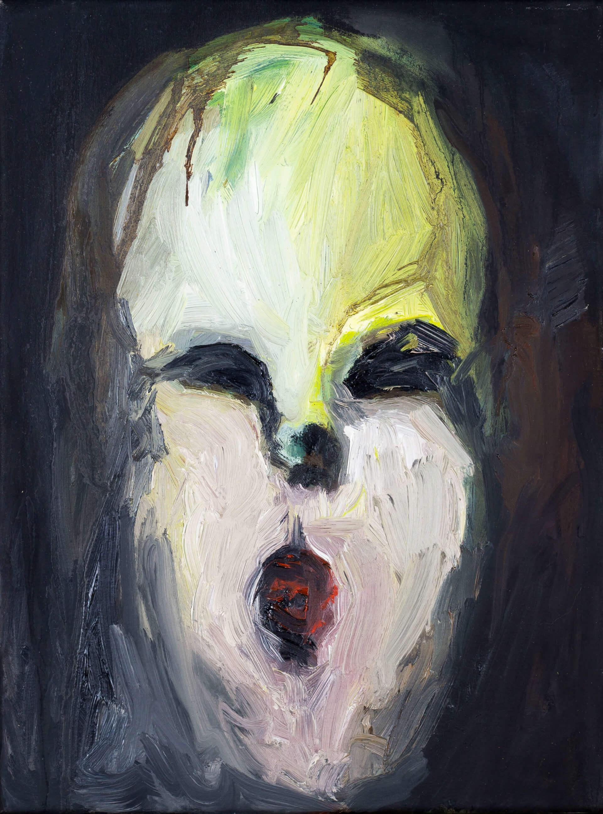 Katharina Albers, Transformation XXIV, 2011, Öl auf Leinwand,40×30 cm