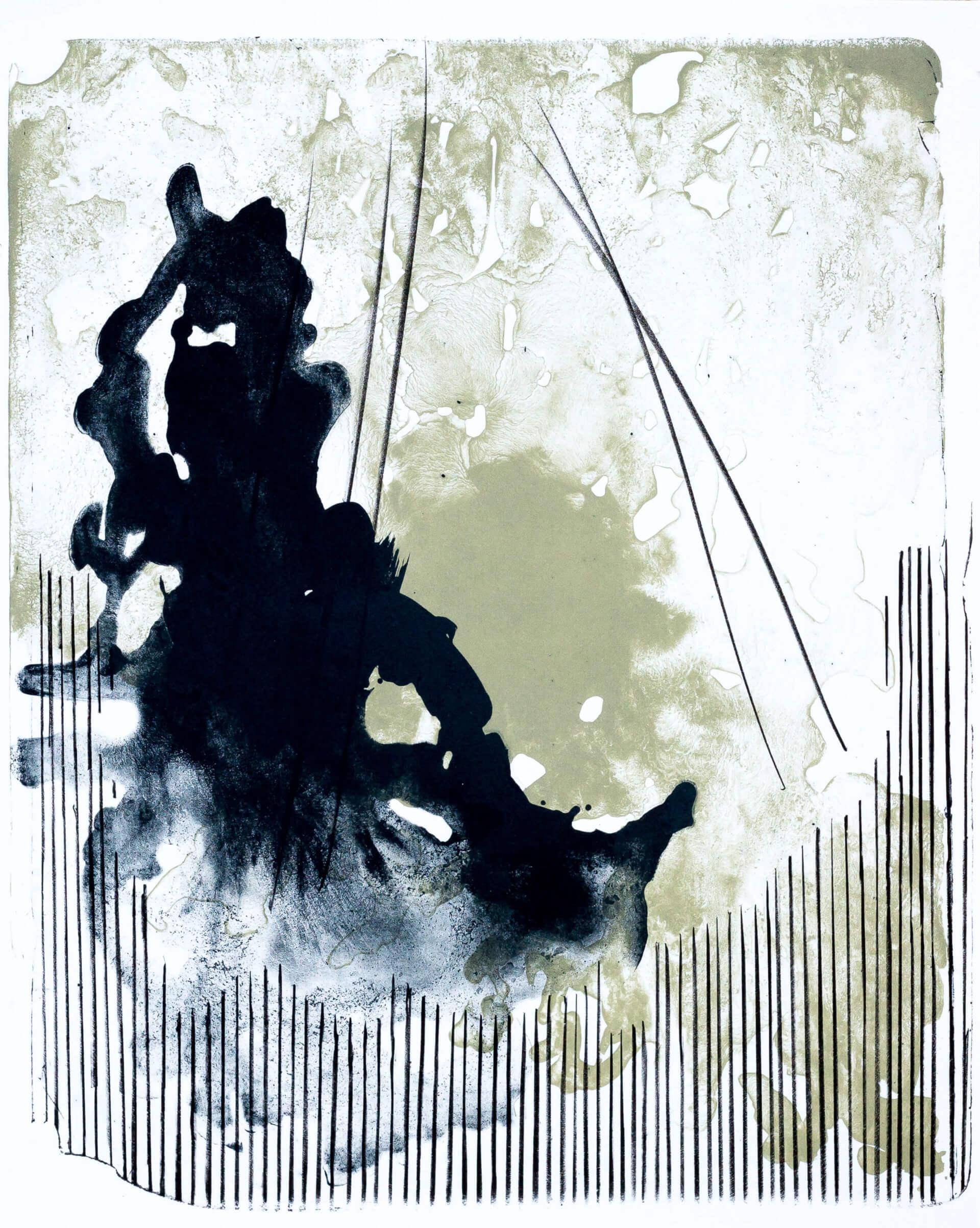 Katharina Albers, organism (Wald) VIII, 2016, Farblithographie, Unikat, 50x40 cm