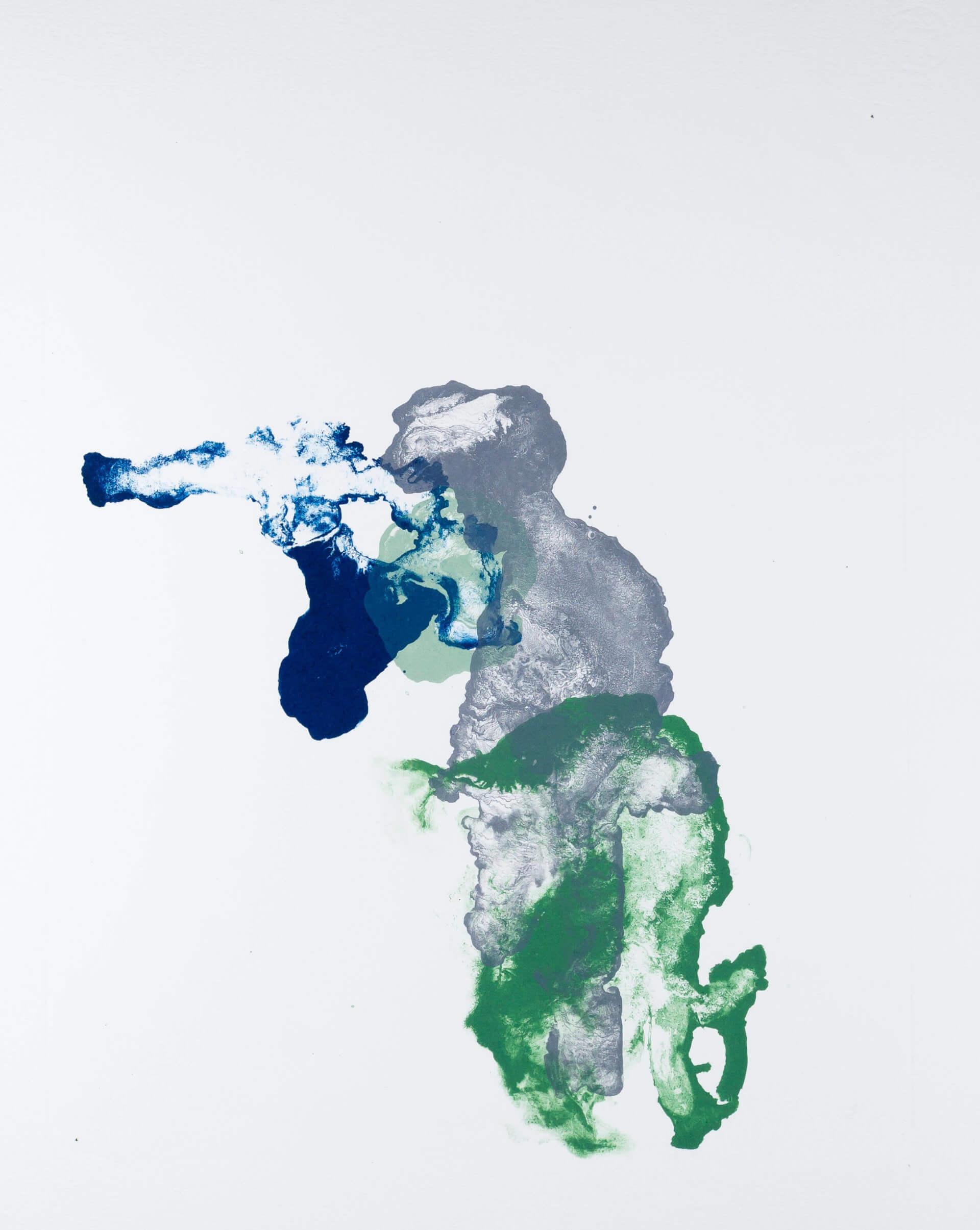 Katharina Albers, organism (growing)(D), 2017, Farblithographie, Unikat, 56x45 cm