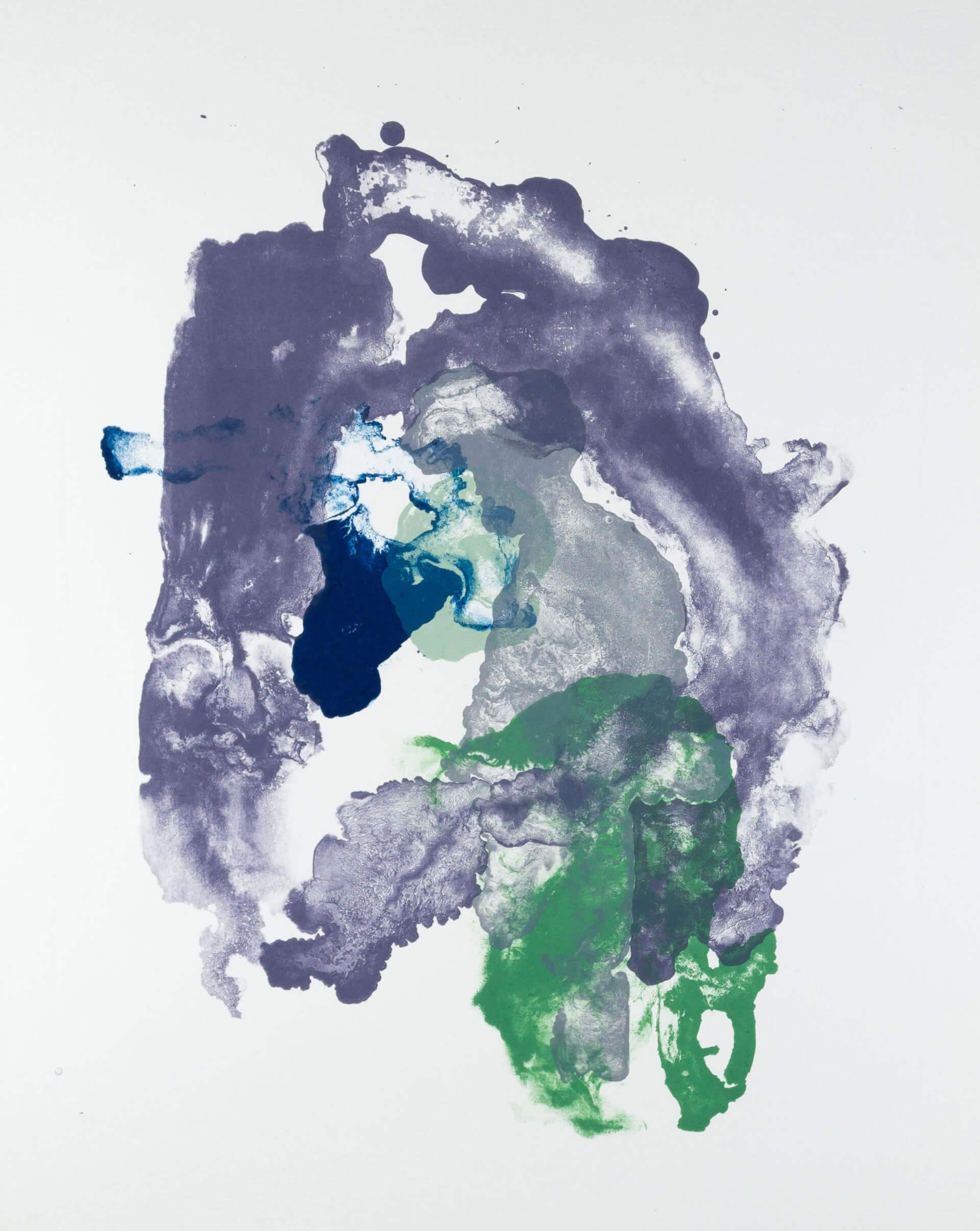 Katharina Albers, organism (growing)(E), 2017, Farblithographie, Unikat, 56x45 cm