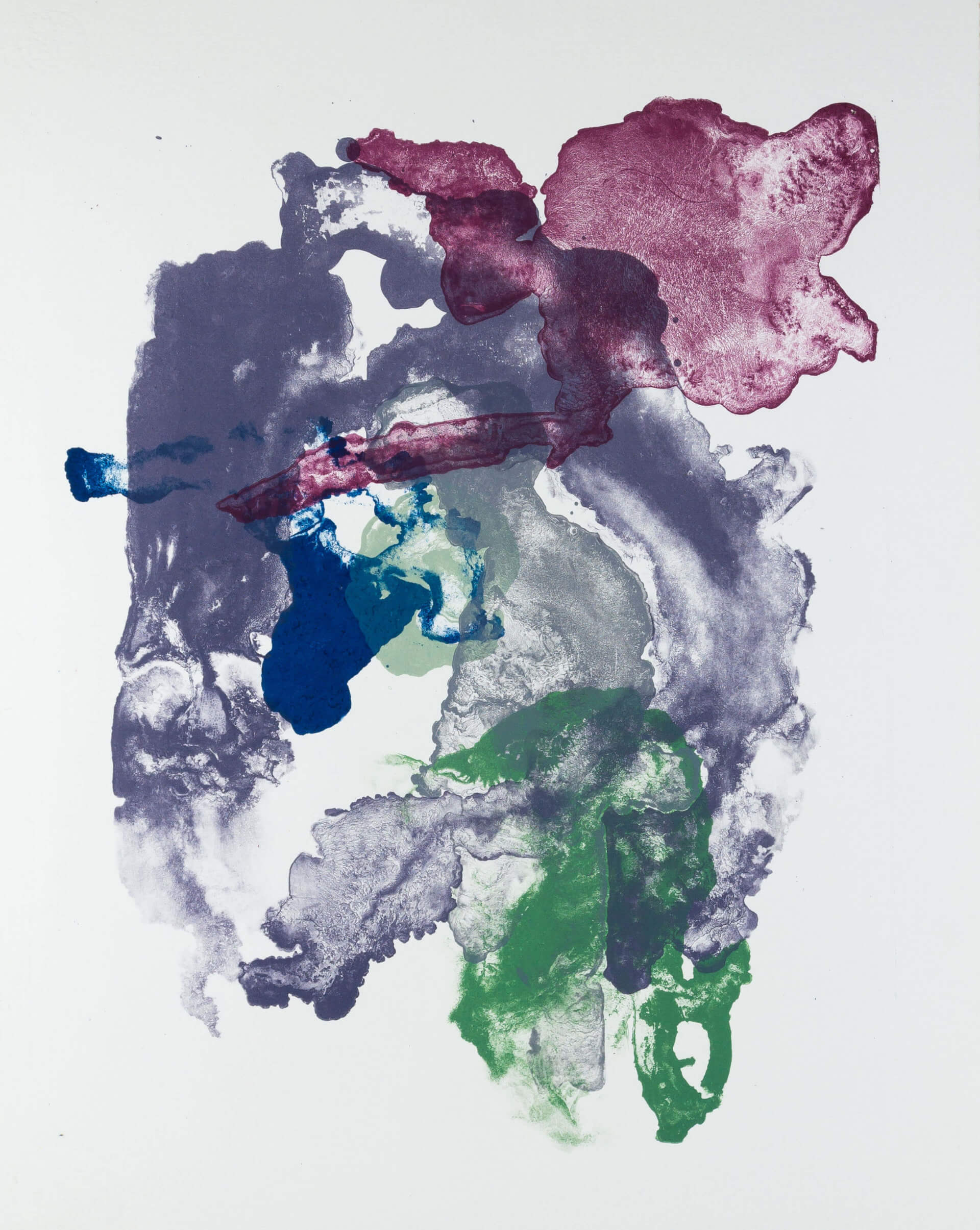 Katharina Albers, organism (growing)(F), 2017, Farblithographie, Unikat, 56x45 cm