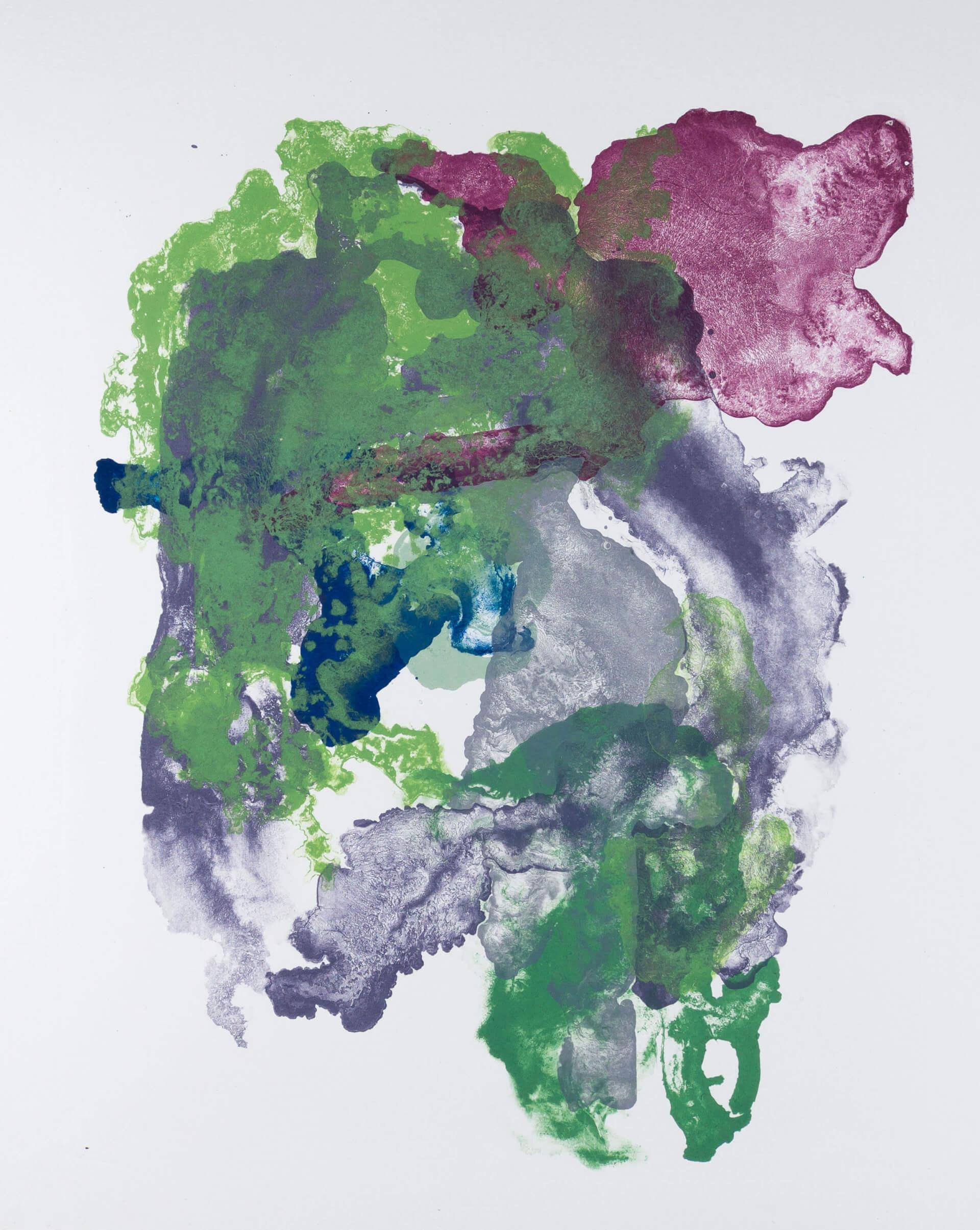 Katharina Albers, organism (growing)(G), 2017, Farblithographie, Unikat, 56x45 cm