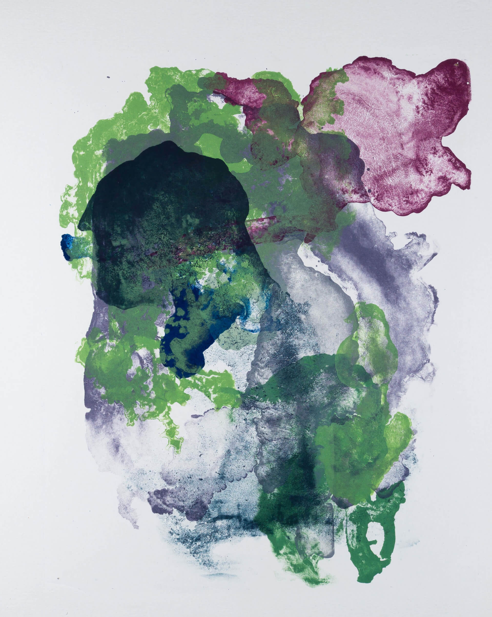 Katharina Albers, organism (growing)(H), 2017, Farblithographie, Unikat, 56x45 cm