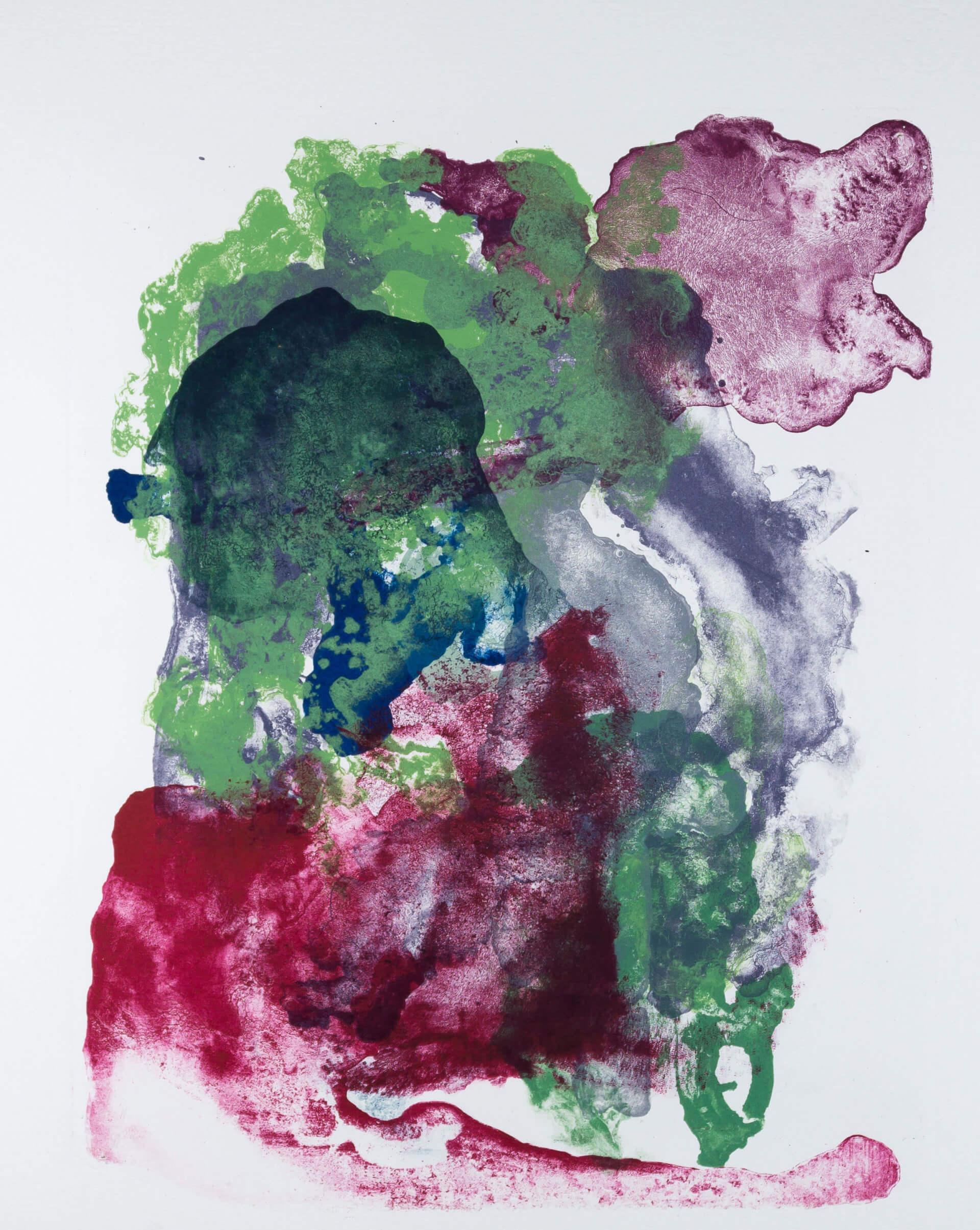 Katharina Albers, organism (growing)(I), 2017, Farblithographie, Unikat, 56x45 cm