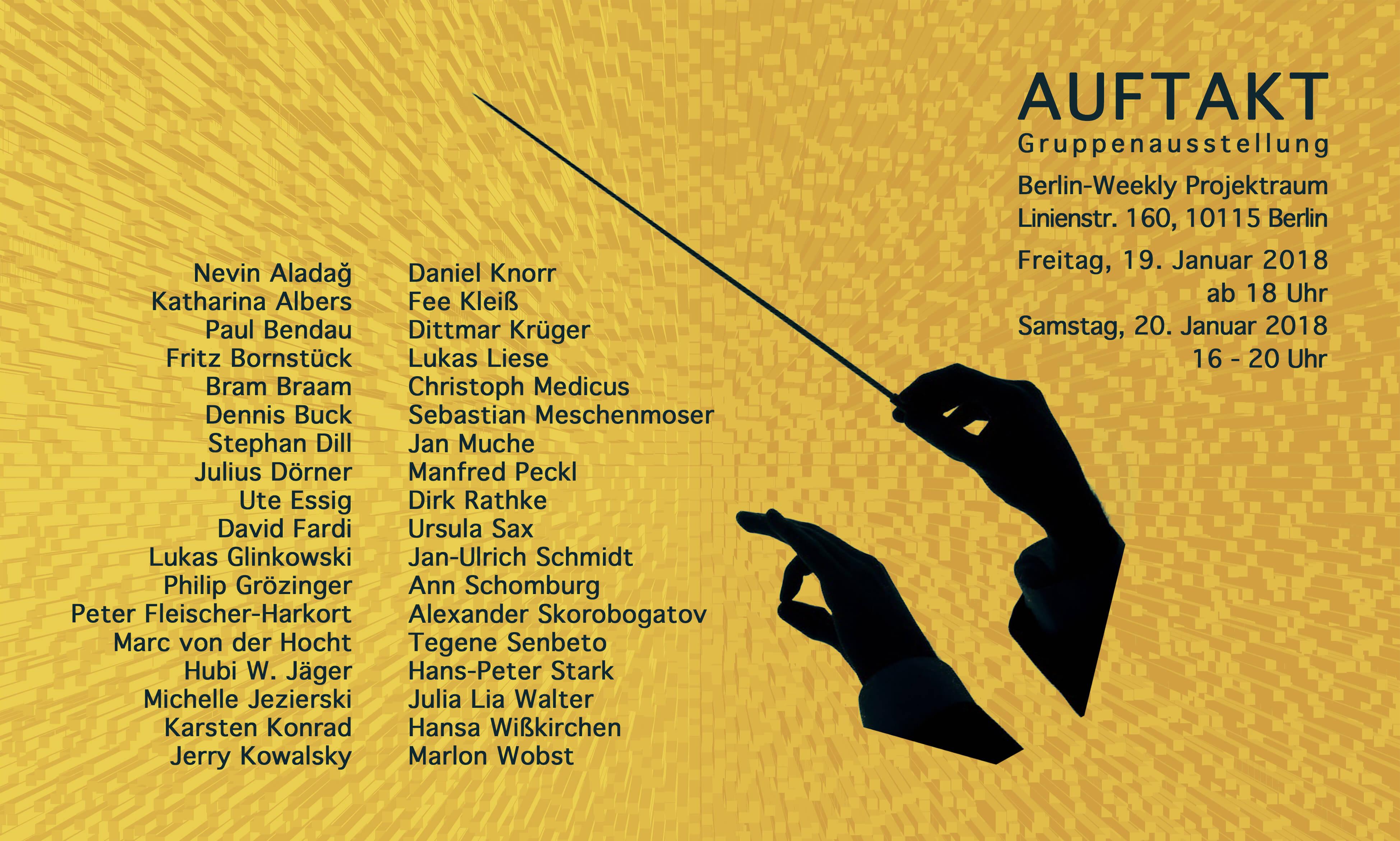 AUFTAKT Gruppenausstellung // Berlin-Weekly Projektraum