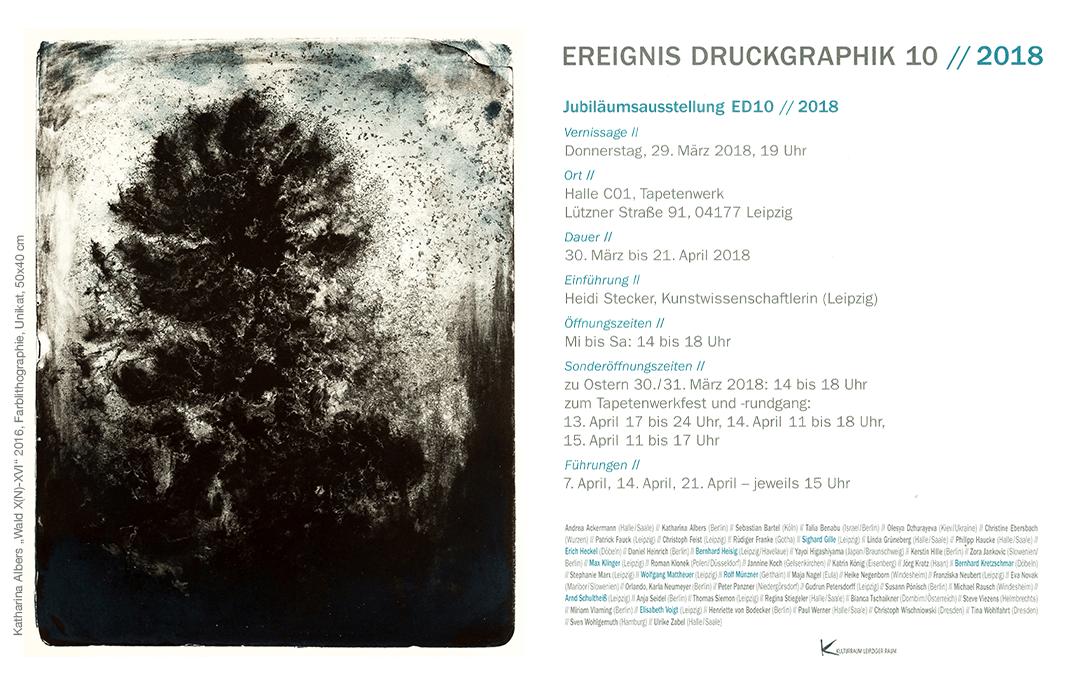 EREIGNIS DRUCKGRAPHIK 10 // 2018 // BBK Leipzig