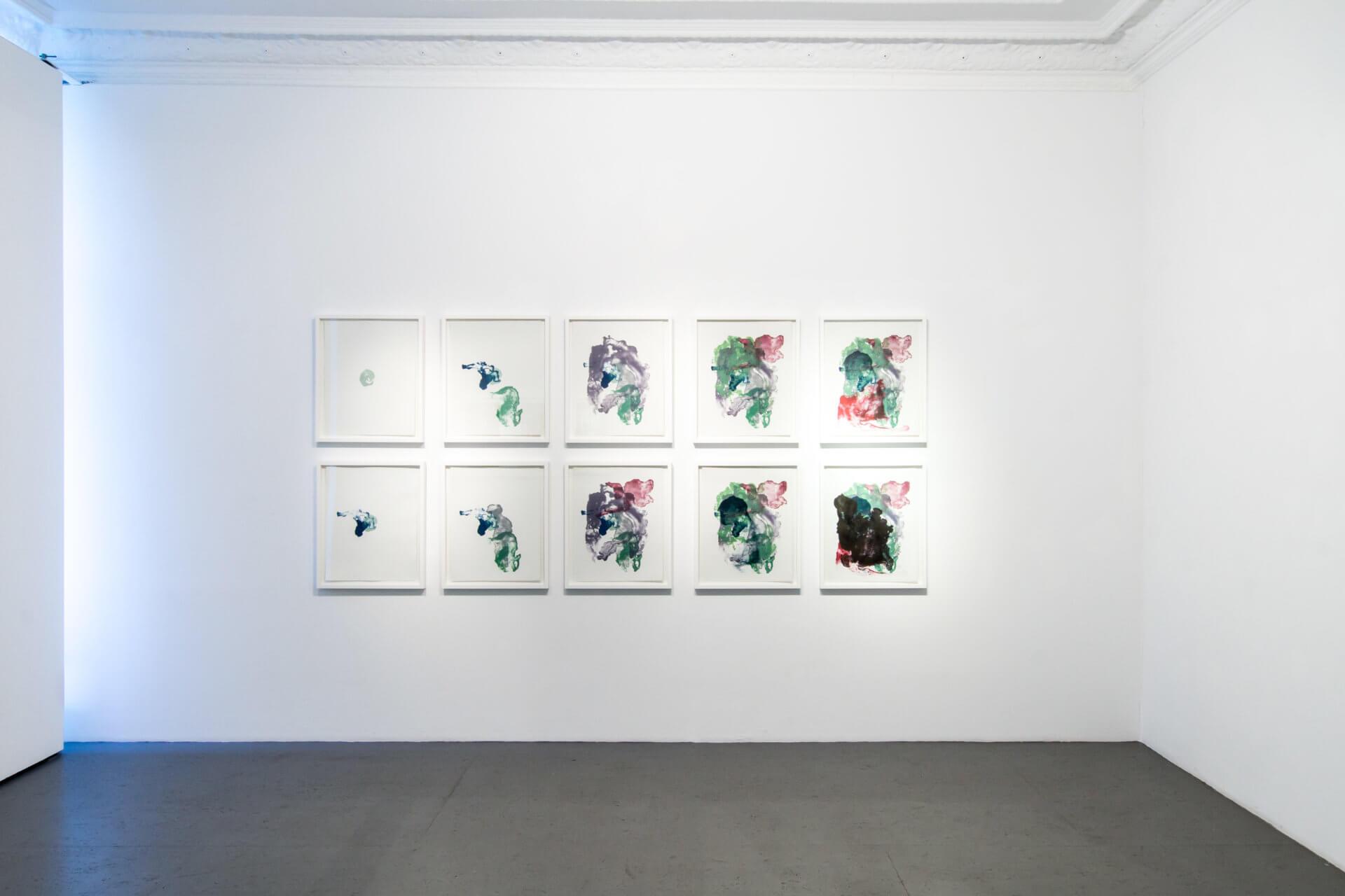 lithographic nature - Ausstellungsansichten der Einzelausstellung von Katharina Albers in der Galerie Burster Berlin
