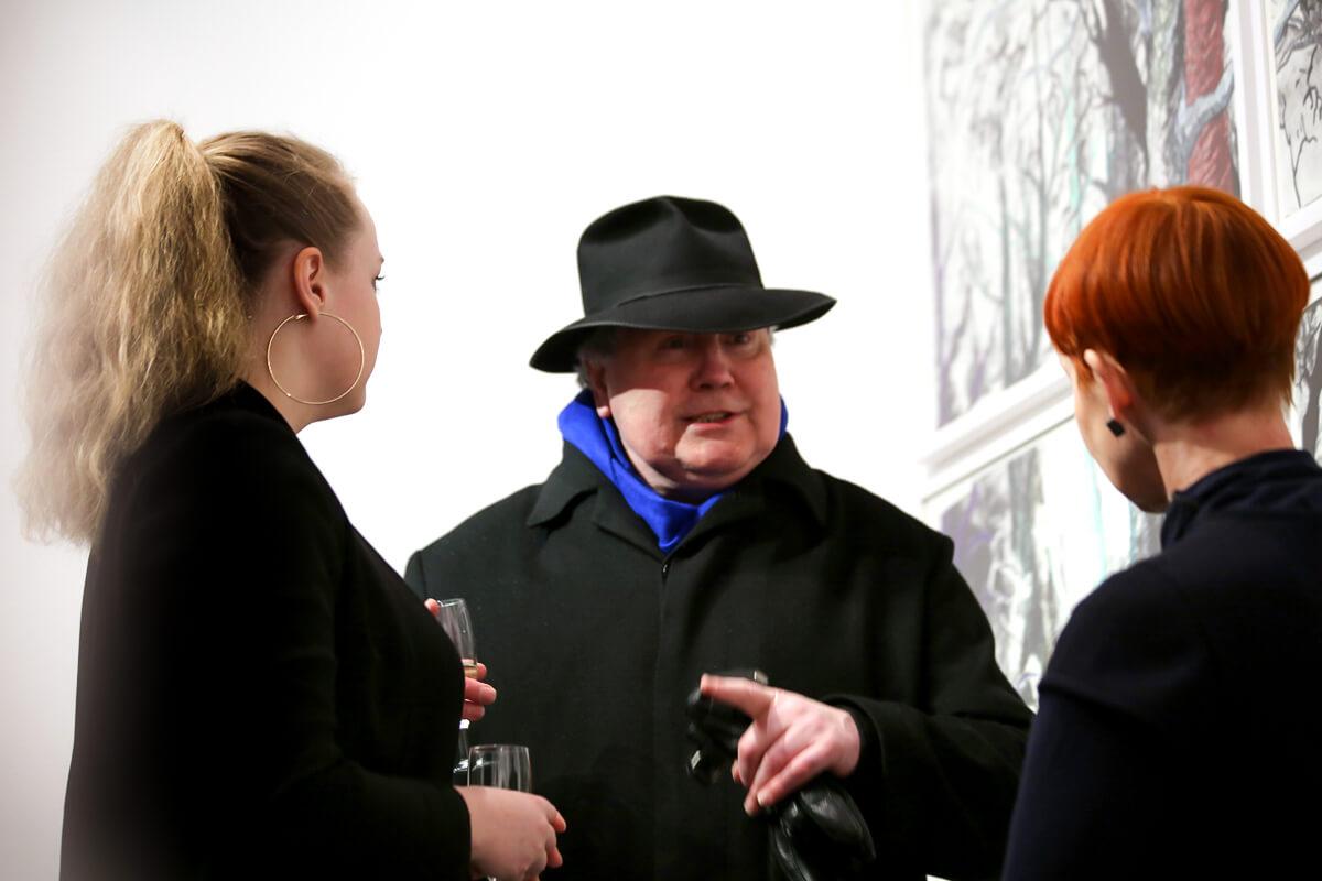 Eröffnung: Katharina Albers - lithographic nature, Galerie Burster Berlin mit Kurator Mark Gisbourne