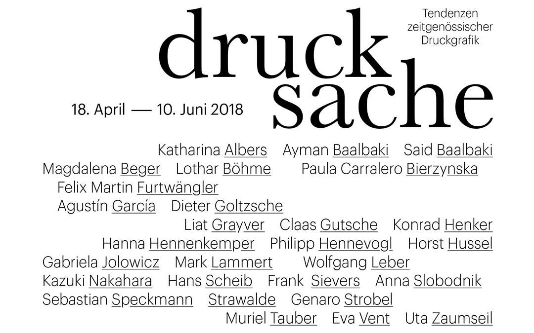 Drucksache // Tendenzen zeitgenössischer Druckgrafik in der Galerie Pankow