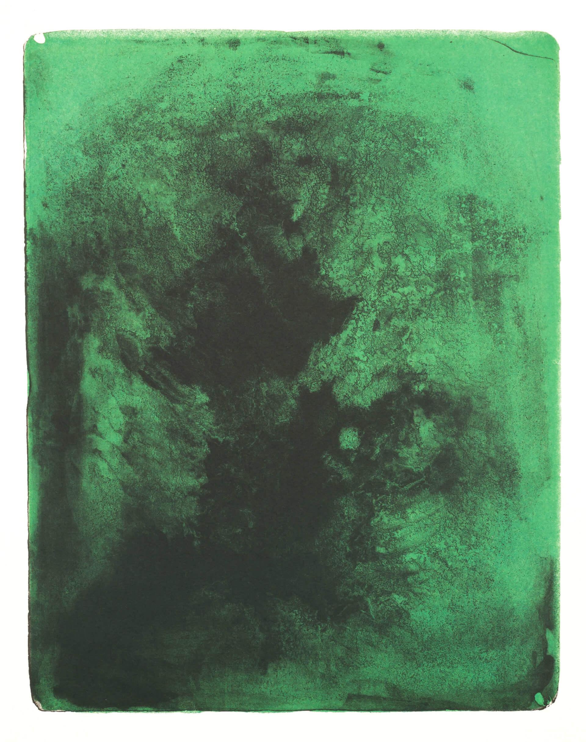 Wald X(K)-XI, 2018, Farblithographie, Unikat, 50x40 cm.