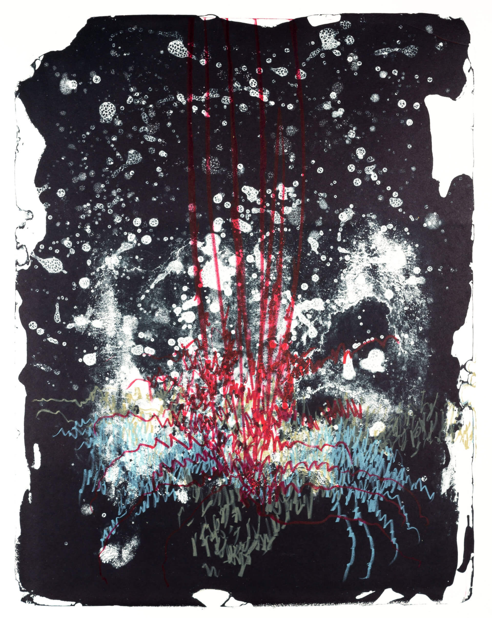 Wald X(D)-VI, 2019, Farblithographie, Unikat, 50x40 cm