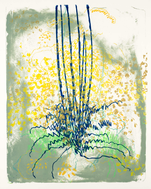 Wald X(D)-VIII, 2019, Farblithographie, Unikat, 50x40 cm