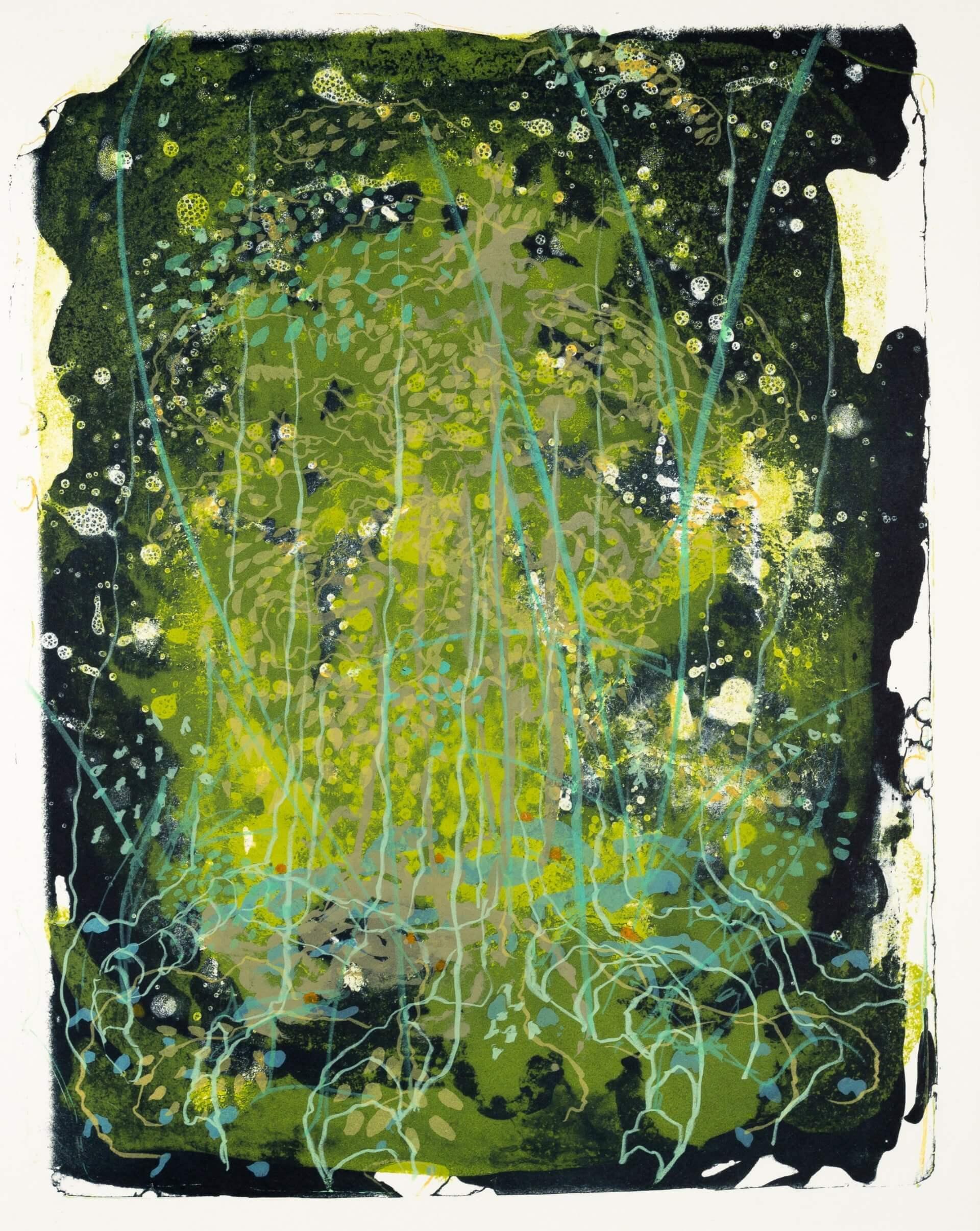 Wald X(D)-XI, 2019, Farblithographie, Unikat, 50x40 cm