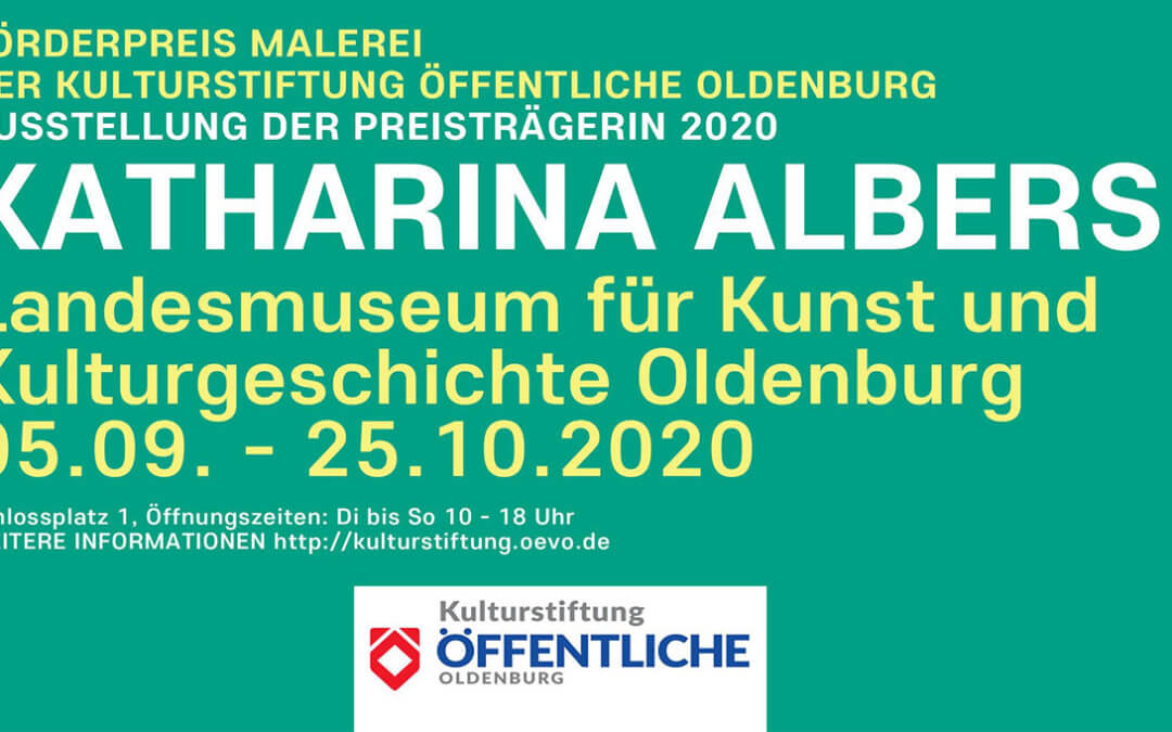 Förderpreis Malerei der Kulturstiftung öffentliche Oldenburg // 2020